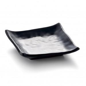 "Melamine Square Plate Matte Black 5""- 13 x 13 x 3.3cm"