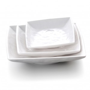 Melamine Square Bowl White - 17.8 x 17.8 x 3.2cm
