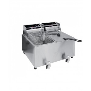 Birko 1001004 Commercial Double Deep Fryer 8 Litre