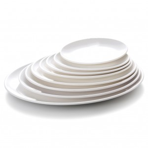 Melamine Oval Plate White - 31.1 x 15.8 x 2.1cm