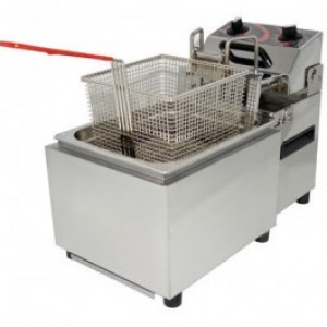 Woodson W.FAS80 Auto-Lift Single Pan Fryer - 8 Litres