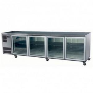 Skope CC700 Slimline Series Four Door Bench Fridge - 2820mm