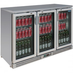 Polar Three Sliding Door Back Bar Cooler -CE207-A
