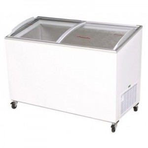 Bromic CF0400ATCG Angle Top Curved Glass Chest Freezer - 352 Litre