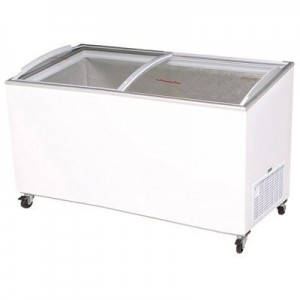 Bromic CF0600ATCG Angle Top Curved Glass Chest Freezer - 555 Litre