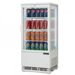 Bromic CT0080G4W Countertop Beverage Chiller Flat Glass White - 78 Litre