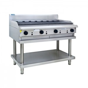 LUUS CS-12C – 1200mm Wide Professional Chargrill With Shelf