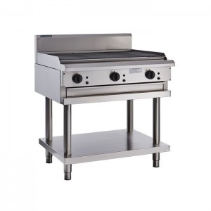 LUUS CS-9C – 900mm Wide Professional Chargrill With Shelf