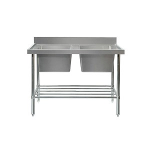 Mixrite SS2724 Double Sink Bench 2400mm
