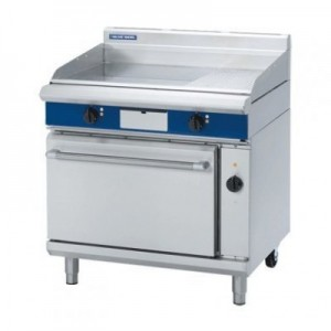 Blue Seal EP56 900mm Electric griddle convection oven range