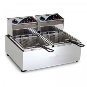 Roband Double Pan Counter Fryers