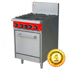 Fuoco F4OBO Commercial 4 burner with static oven