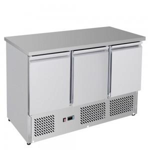 GNS1300B Three Door Compact Workbench Fridge