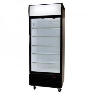 Bromic GM0660L LED ECO Black Glass Door Chiller w/Lightbox - 660 Litre