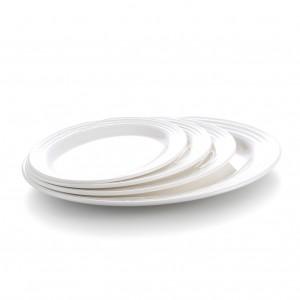 Melamine Oval Plate Narrow Rim White - 22.8 x 16.9 x 1.8cm