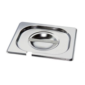 MIXRITE Stainless Steel Lids with Cut for Spoon 176x108