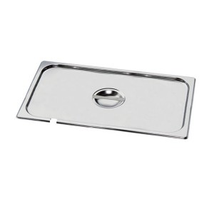 MIXRITE  P16000 Stainless Steel Lids with Cut for Spoon 176mm