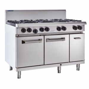 LUUS RS-6B3P – 1200mm Professional Oven, 6 Burners & 300mm Grill