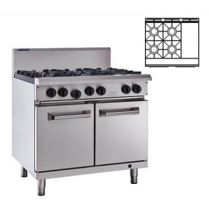 LUUS RS-4B3P – 900mm Professional Oven, 4 Burners & 300mm Grill