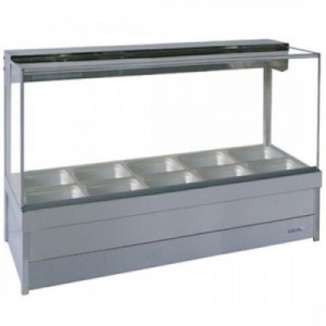 Roband S25/S25RD Square Glass Hot Food Display Bars