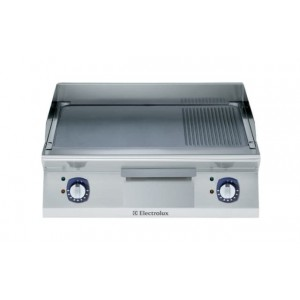 Electrolux 700 XP Series E7FTEHCP10 800mm wide Electric Griddle with Ribbed and smooth chrome plate