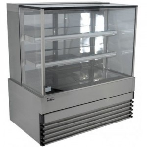 Koldtech KT.SQRCD.12 Square Glass Refrigerated Cake Display 3 Fixed Shelves - 1200mm - Floor Stock