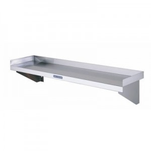 Simply Stainless SS10.2100 Solid Wall Shelf - 2100mm