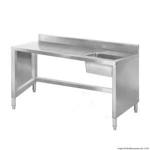 SSB6-1400 Sink Work Bench with Splashback 1400mm