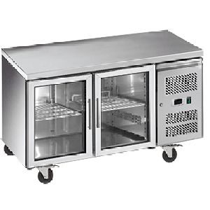 Exquisite SSC260G Snack Size Under Bench Chiller - Glass Doors