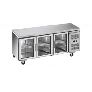 Exquisite SSC400G Snack Size Under Bench Chiller - Glass Doors