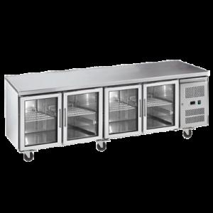 Exquisite SSC550G Snack Size Under Bench Chiller - Glass Doors