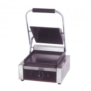 Electric Contact Grill Single top grooved and flat Bottom 1.8KW - TCG-811CKW