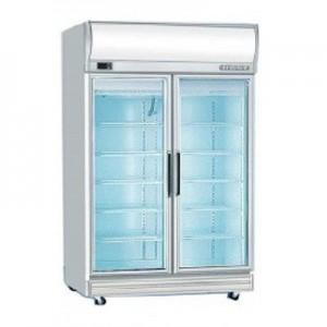 Bromic UF1000LF Double Glass Door Fan Forced Freezer w/Lightbox