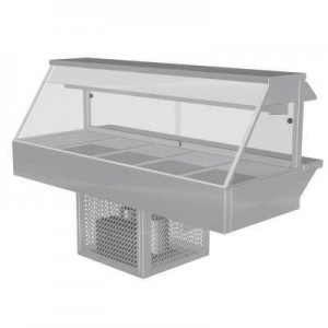 Woodson W.CFS25 Cold Food Bar - Straight Glass 1680mm