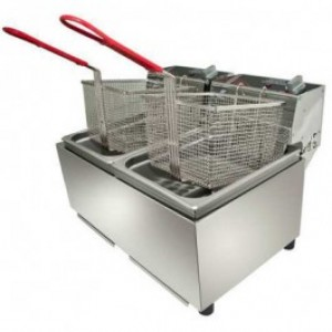 Woodson W.FRT80 Double Pan Fryer - 8 Litres