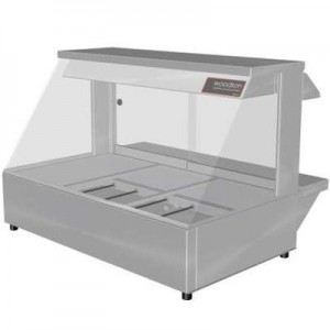 Woodson W.HFC23 Hot Food Bar - Curved Glass 1030mm
